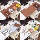 滑鼠墊超大辦公電腦鍵盤墊卡通鎖邊學生寫字書桌墊家用防水【小艾新品】