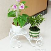 鐵藝花架多層創意陽台花架客廳花盆架落地式辦公室內外小花幾【米娜小鋪】igo