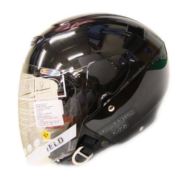 ZEUS 瑞獅安全帽,半罩安全帽,3/4帽,飛行帽,202D,素色,黑