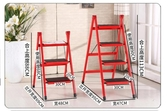 梯子家用折疊梯凳二三步加厚鐵管踏板室內人字梯三步梯小梯子YXS