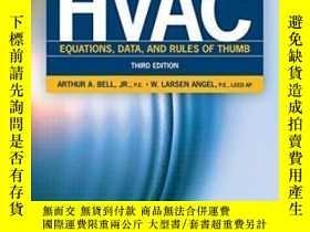 二手書博民逛書店Hvac罕見Equations Data And Rules Of Thumb Third EditionY3
