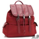 後背包-MOROM.真皮美式時尚拉鍊造型後背包(共三色)3019