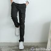 出清不退換 【OBIYUAN】 側邊口袋 彈性 長褲 休閒褲【HK3203】素面工作褲