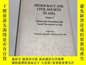 二手書博民逛書店democracy罕見and civil society in asia(亞洲的民主和公民社會)Y237539