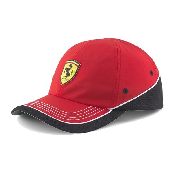 Puma Ferrari 紅黑色 帽子 運動帽 老帽 遮陽帽 六分割帽 經典棒球帽 運動帽 02320001