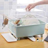 (萬聖節鉅惠)餐具架瀝水架大號塑料碗櫃廚房瀝水碗架帶蓋碗筷餐具收納盒XW