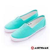 美國AIRWALK-390元起 三角鬆緊 百搭舒適懶人帆布鞋(女)-綠