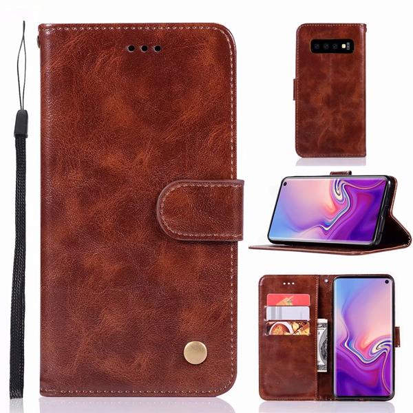三星 S10 S10+ S10e S9 plus S9 S8 plus 手機皮套 復古刷色皮套 插卡 支架 可掛繩 磁扣 皮套