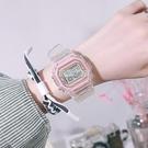 手表女ins風少女可愛韓版簡約高中學生獨角獸方形防水數字電子表