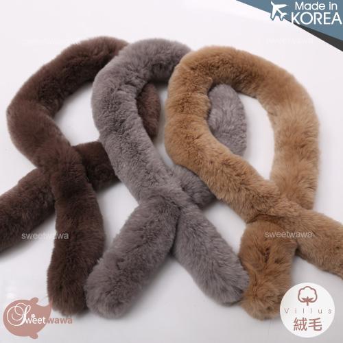 【封館5折】~韓國飾品~暖暖細柔保暖絨毛圍脖圍巾(P11335)
