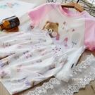 時尚舒適女童純棉卡通短袖家居服兩件套兒童韓版寬松睡衣套裝