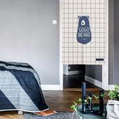 臥室隔斷簾掛簾廚房半簾風水簾裝飾擋風簾子 熊熊物語