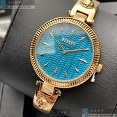 VERSUS VERSACE凡賽斯女錶34mm水藍色錶面玫瑰金色錶帶