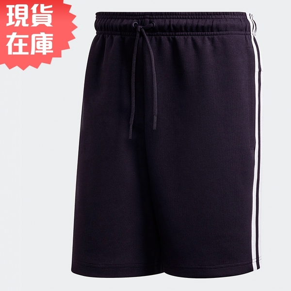 【現貨】ADIDAS 3-STRIPES 男裝 短褲 休閒 兩側口袋 後方小LOGO 棉 黑【運動世界】FT2954