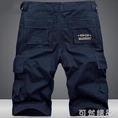 加大碼棉質工裝短褲男士多口袋休閒寬鬆五分褲男夏季薄款5分褲子 可然精品
