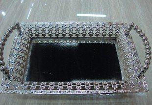 鋅合金鐵藝鍍鎳不鏽鋼歐式托盤