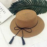 防曬海邊度假大沿草帽 可折疊大檐遮陽太陽帽m60