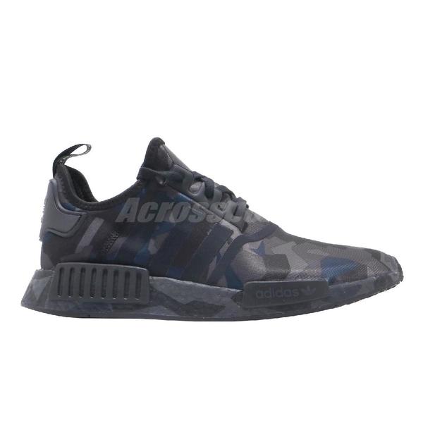 adidas 休閒鞋 NMD_R1 黑 灰 迷彩 男鞋 運動鞋 襪套式 【ACS】 EF4263