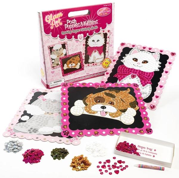[楷樂國際] 拼貼藝術-小貓小狗 Glam Art - Posh Puppies & Kittens #Fubulous Wubulous 兒童 益智遊戲 亮片 手工藝