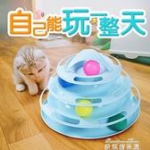 逗貓器 貓玩具貓轉盤自動逗貓器貓咪套裝貓玩具球逗貓棒貓貓小貓用品自嗨 麥琪精品屋