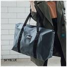 旅行袋-原創RABBIT TWO自訂簡約尼龍手提/斜背旅行袋-共4色-A13130046-天藍小舖