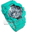 EXPONI 線條 雙顯腕錶 男錶 綠 ...