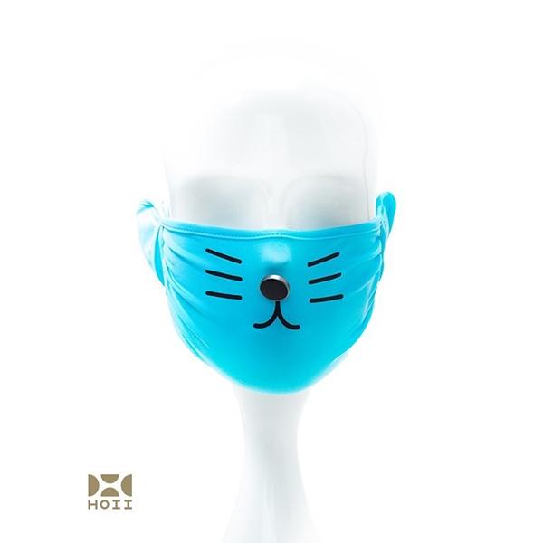 HOII后益先進光學美療布-兒童小萌達花貓美膚口罩(黃/紅/藍)