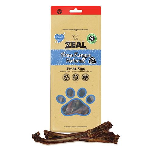【寵物王國】ZEAL真致-紐西蘭天然風乾零食 牛肋骨(分段)125g