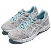 Asics 慢跑鞋 Patriot 9 灰 白 藍 輕量版 女鞋 運動鞋 【PUMP306】 T873N9601