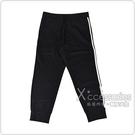 Y-3側面字母LOGO經典白條紋設計尼龍鬆緊運動長褲(黑)