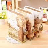 韓版創意帶掛鎖密碼本學生日記事本子復古建筑筆記本文具盒裝禮物