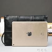 街頭韓版男格子手拿包 文件包 時尚手包 商務休閒信封包 盯目家