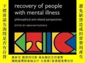 二手書博民逛書店Recovery罕見Of People With Mental
