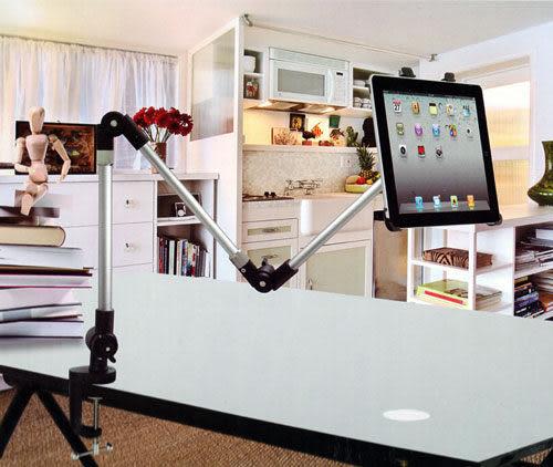 【三關節桌面固定架】Apple New iPad iPad2/iPad3/iPad4平板電腦固定架/桌面架/電腦架/支架/壁掛/壁架