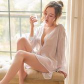 睡裙女夏季性感白襯衫正韓情趣老公裙超薄孕婦睡衣家居服情調衣人 森雅誠品