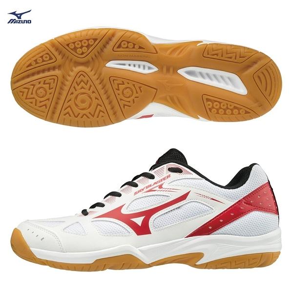 MIZUNO SKY BLASTER 男鞋 女鞋 羽球 手球 基本款 一般 橡膠 耐磨 白 橘【運動世界】71GA194561