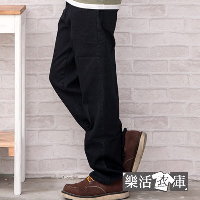 MIT純色G&W造型口袋伸縮中直筒牛仔褲(黑色)● 樂活衣庫【P6631】