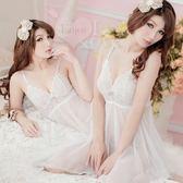 情趣睡衣 蕾絲款 魅惑挑逗!蕾絲柔紗二件式性感睡衣(白)內睡衣 女衣
