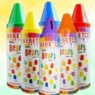 Bebeto 蠟筆彩虹熊軟糖(200g鐵罐裝) 5色罐裝隨機出貨 【8690146143376】