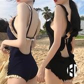 泳衣女溫泉性感露背比基尼小胸聚攏遮肚顯瘦連體泳裝【Kacey Devlin】