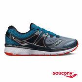 SAUCONY TRIUMPH ISO 3 緩衝避震專業訓練鞋款-灰x藍x紅