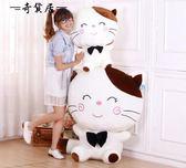 可愛貓咪毛絨玩具大號韓國玩偶萌抱枕睡覺公仔布娃娃生日禮物女孩【奇貨居】