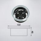 92062專用預埋盒 直徑122mm 高48mm