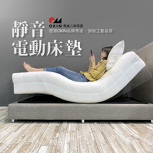 EverSoft 德國OKIN高精密馬達電動床墊-150*190cm(玫瑰花紋)