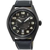 SEIKO精工飛行風格時尚機械錶 4R35-02W0SD SRPC89J1 黑皮