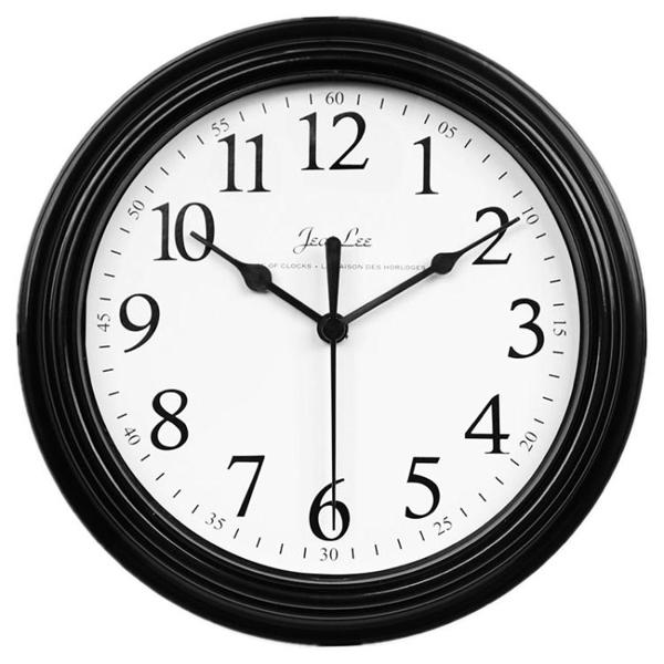 現代簡約鐘表掛鐘客廳臥室家用圓形電池數字時鐘掛表壁鐘WY【萬聖夜來臨】