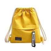 束口包束口袋抽繩後背包男女小學生書包輕便運動帆布背包布袋補習補課包 迷你屋