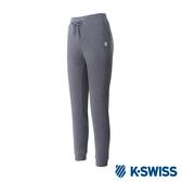 K-SWISS Logo Capri Pants棉質九分褲-女-鐵灰