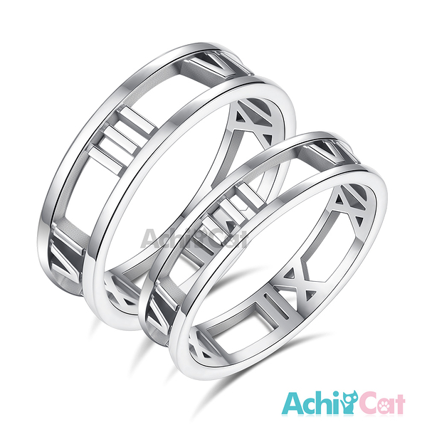 AchiCat 情侶戒指 925純銀戒指 永不放手 *單個價格* AS8025