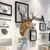 仿真鹿頭壁掛動物頭壁飾復古墻面創意掛件